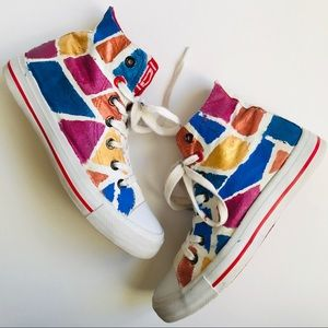 1D One Direction High Top Art Deco Sneakers